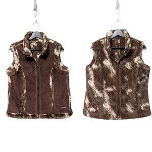 ARIAT Faux Fur Suede Reversible Cowgirl Vest L